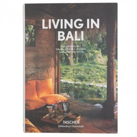 Living In Bali Book (brown / hardcover)