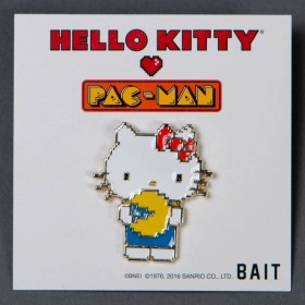 BAIT x Sanrio x Pac-Man Hello Kitty Pin (white)