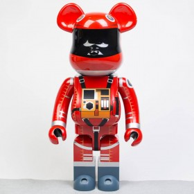 Medicom 2001 A Space Odyssey Space Suit Orange Ver 1000% Bearbrick Figure (orange)