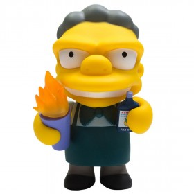 Kidrobot x The Simpsons Flaming Moe Medium Figure (yellow)