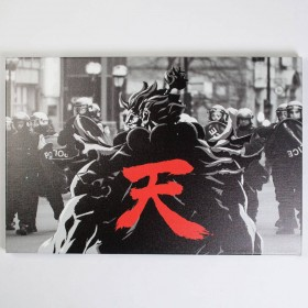 BAIT x Street Fighter Akuma Snapshot 24 x 30 In Canvas Art Print (black)