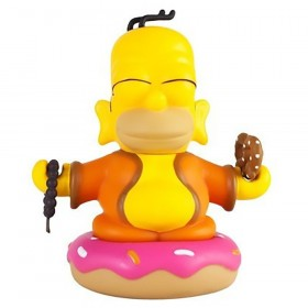 Kidrobot x The Simpsons Homer Buddha 3 Inch Mini Figure (yellow)