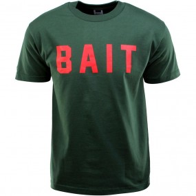 BAIT Logo Tee green // forest green // red