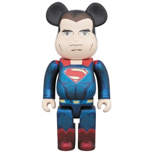 Medicom Superman 400% Bearbrick Figure - Batman vs Superman (blue)