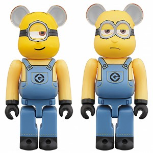 PREORDER - Medicom Despicable Me 3 Minion Stuart And Kevin 100% 2 Pack Bearbrick Figure Set (yellow)