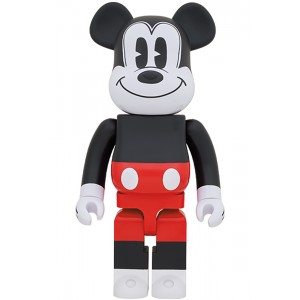PREORDER - Medicom Disney Mickey Mouse R&W 2020 Ver. 1000% Bearbrick Figure (red)