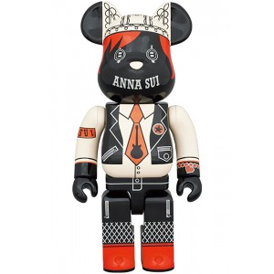 PREORDER - Medicom Anna Sui Red And Beige 400% Bearbrick Figure (beige)