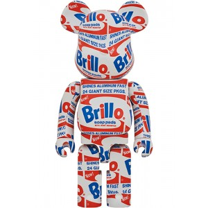 PREORDER - Medicom Andy Warhol Brillo 1000% Bearbrick Figure (white)