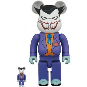 PREORDER - Medicom Joker Batman The Animated Series Version 100% 400% Bearbrick Figure Set (purple)