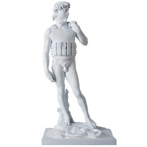 Medicom x SYNC Brandalism Suicide Man Statue (white)