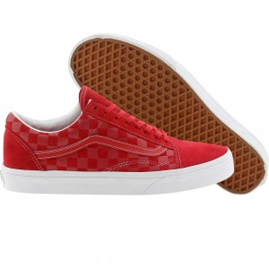 Vans Old Skool Reissue CA Embossed Check (red / formula one)