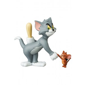 PREORDER - Medicom UDF Tom And Jerry - Tom With Club And Jerry With Bomb Figures (gray / brown)