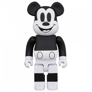 PREORDER - Medicom Disney Mickey Mouse Black And White 2020 Ver 1000% Bearbrick Figure (black / white)