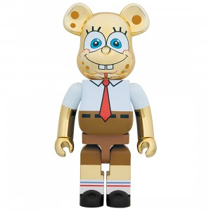 PREORDER - Medicom Nickelodeon SpongeBob SquarePants Gold Chrome 1000% Bearbrick Figure (gold)