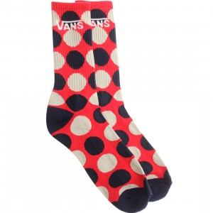 Vans Big Dots Crew Socks (red / reinvent red)