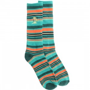 Vans Striper Crew Socks (green / baltic)
