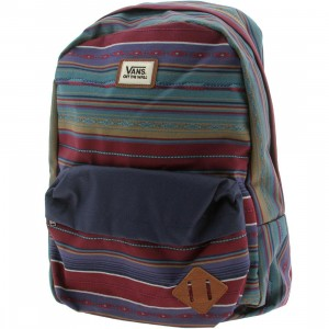 Vans Old Skool II Backpack (blue / red / woven dobby stripe)