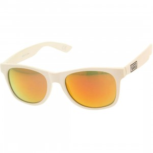 Vans Spicoli 4 Shades Sunglasses (white / red mirror)