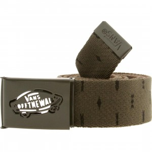Vans Reverse Web Belt (green / forest night peyote)