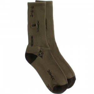 Vans Peyote Crew Socks (green / forest night peyote)