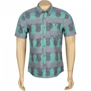 Vans Rusden Pineapple Print Short Sleeve Shirt (blue / pineapple)