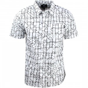 Stussy Dominos Short Sleeve Shirt (white)