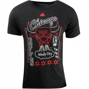 Adidas Men Chicago Bulls Sign Up Retro Tee (black)