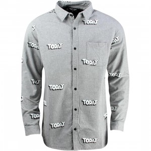 Lazy Oaf Today Long Sleeve Shirt (gray)