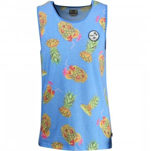 Vans Olivera Tank Tee - Drained and Confused (blue / pineapple)
