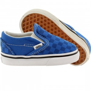 Vans Toddlers Classic Slip-On Tonal Checkerboard (blue / skydriver)