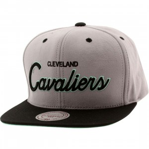 Mitchell And Ness Cleveland Cavaliers Lady Liberty Snapback Cap (gray / black / teal)