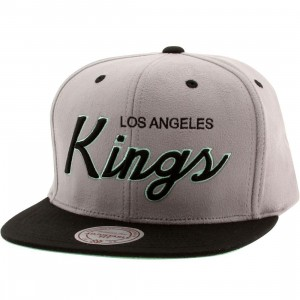 Mitchell And Ness NHL Los Angeles Kings Lady Liberty Snapback Cap (gray / black / teal)