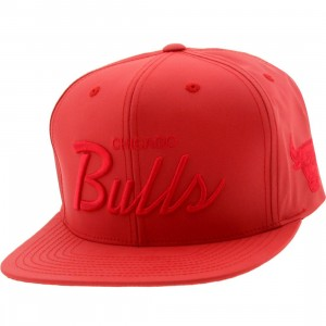 Mitchell And Ness Chicago Bulls 3M Crown Snapback Cap (red)