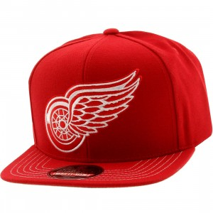 American Needle Detroit Red Wings Mammoth Snapback Cap (red / red)
