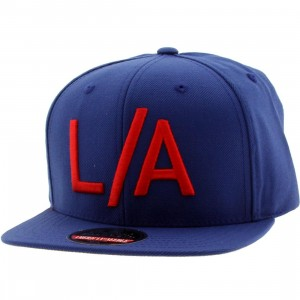 American Needle Los Angeles Divided Snapback Cap (blue / red)