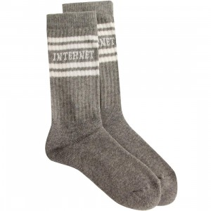 Lazy Oaf Internet Socks (gray)