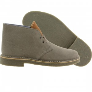 Clarks x Herschel Supply Co Men Desert Boots (gray / suede)