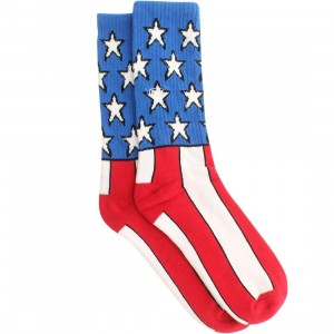 Vans Flag Crew Socks (red / white / blue)