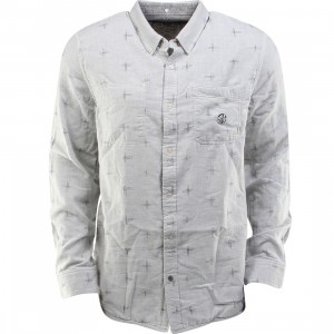 Vans Radcliff Woven Long Sleeve Shirt (gray / graphite nep / ikat)