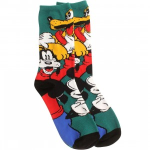 Vans x Disney Mickey And Friends Crew Socks (green / red)