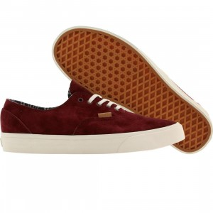 Vans Men Era Decon - CA Pig Suede (burgundy / port royale)