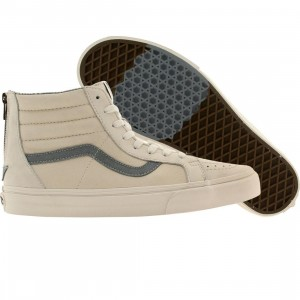 Vans Men Sk8-Hi Zip - CA Leather Nubuck (white / blanc)