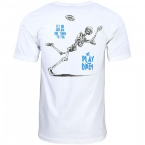 Undefeated Men We Play Dirty Tee (white)