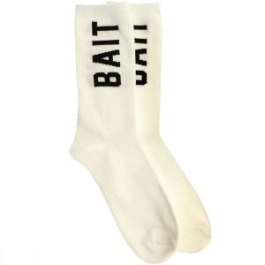 BAIT Logo Lightweight Crew Socks (white) 1S