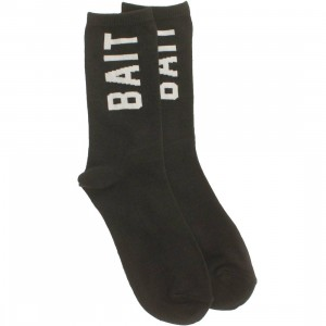 BAIT Logo Lightweight Crew Socks (black) 1S