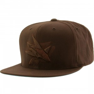 Mitchell And Ness San Jose Sharks NHL Waxed Canvas Adjustable Cap (brown)