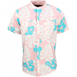 10 Deep Men Beach Bum Stand Collar Shirt (pink)