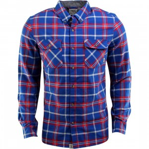 Vans Payne long Sleeve Shirt (blue / cobalt / reinvent red)