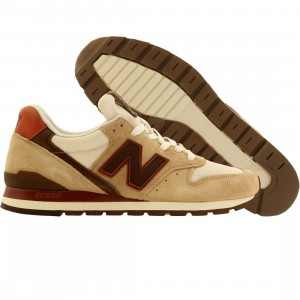 New Balance Men M996DCB - Made In USA - Horween Leather (tan / khaki / brown)