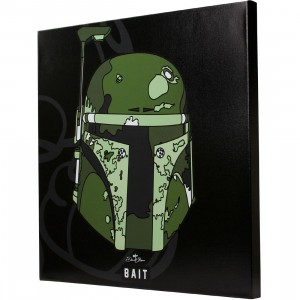 BAIT x David Flores Star Wars 24 Inch Canvas - Boba Fett (black)